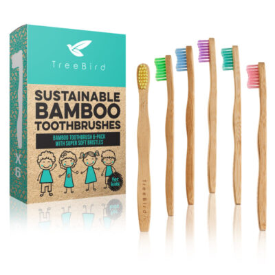 treebird-laste-hambaharjade-6-pakk-childrens-toothbrush-6-pack