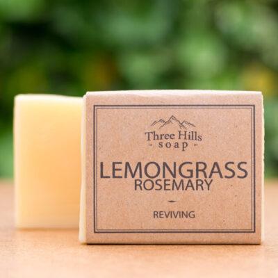 THS-105-three-hills-soap-virgutav-sidrunheina-rosmariiniseep-reviving-lemongrass-rosemary-soap