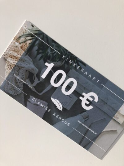 elamise-kergus-kinkekaart-gift-card-100€