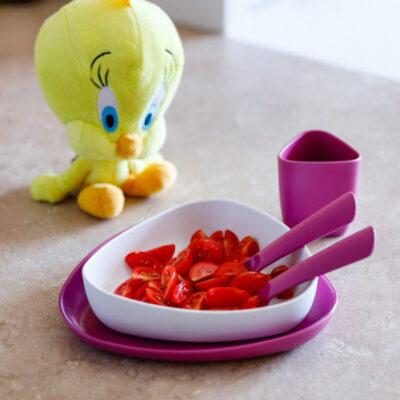 E100100-ekoala-toidunoude-komplekt-valge-lilla-childrens-dinner-set