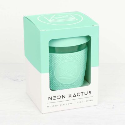 NK104-12OZ-neon-kactus-klaasist-kohvitops-roheline-glass-coffee-cup-mint
