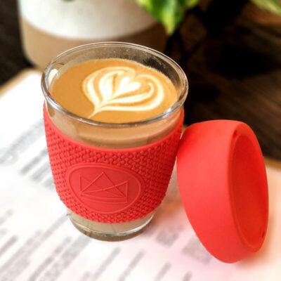 NKC12-DB-neon-kactus-klaasist-kohvitops-korallpunane-glass-coffee-cup-coral-red