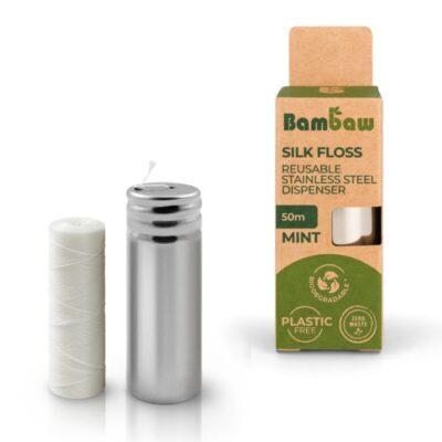 Bambaw-siidist-hambaniit-Floss-Dispenser-silk