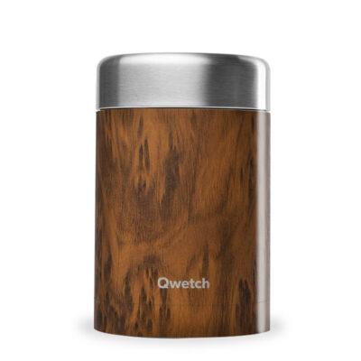 QE2084-qwetch-roostevabast-terasest-toidutermos-puidumustriga-650-ml-stainless-steel-insuated-food-jar