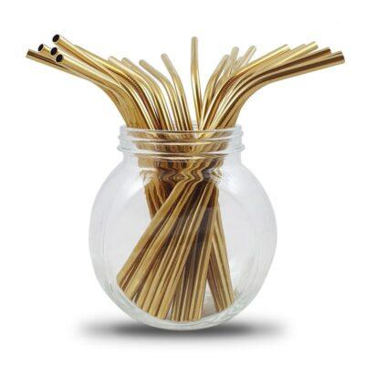 Bambaw-roostevabast-terasest-kors-kuldne-painutatud-Stainless-Steel-Straws-Gold