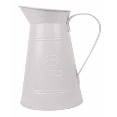 360022-Redecker-metallist-kann-valge-wash-pitcher-white